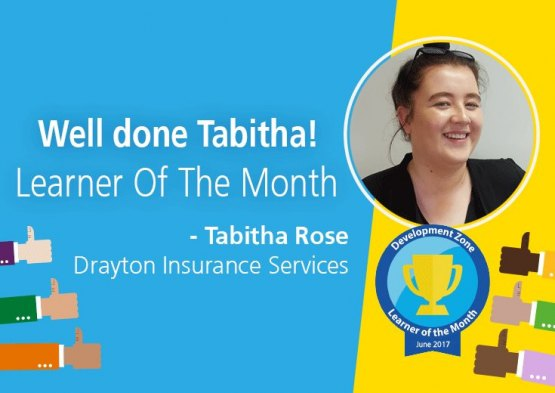 Tabitha is Aviva's Learner of the Month!